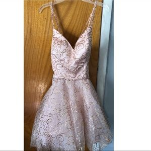 Rose gold glitter dress /  WORN ONLY ONCE